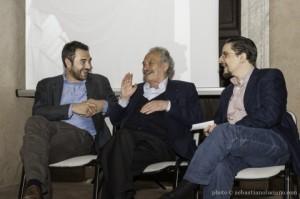 Alberto Dambruoso, Jannis Kounellis e Guglielmo Gigliotti – foto Sebastiano Luciano